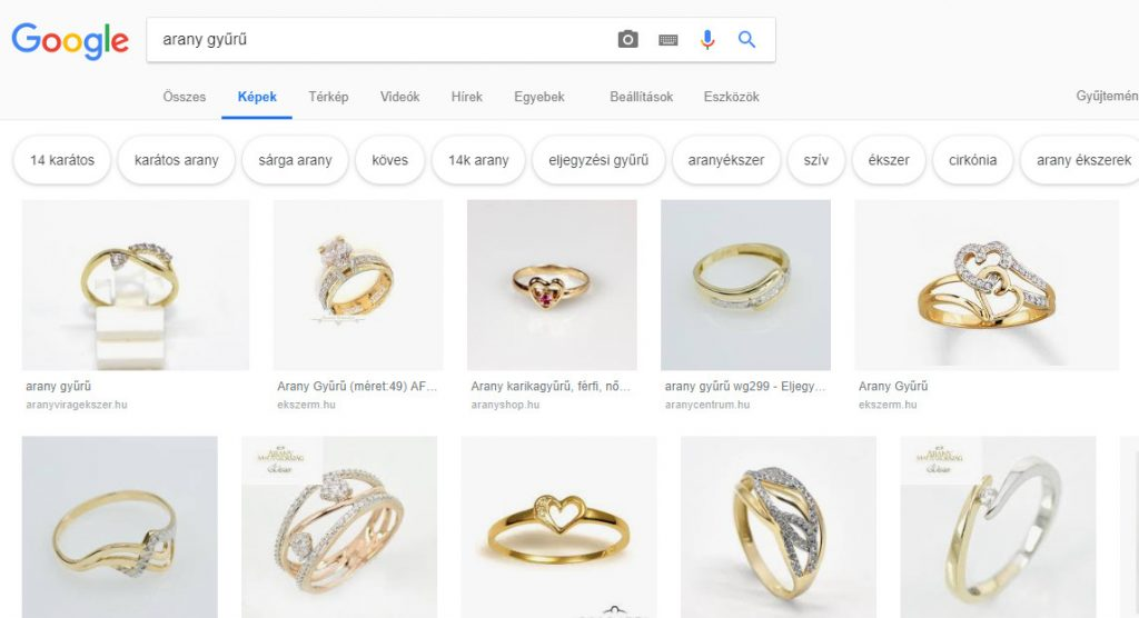 gyűrű képes keresés
